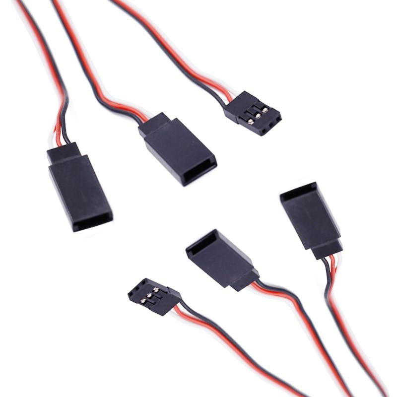 5pcs  Servo 30CM 300MM  servo Extension Wire Cable Servo Wire servo extension lead wire cable white black 32cm 10 pcs