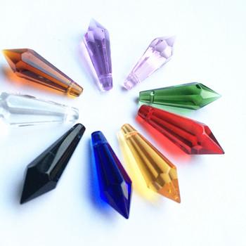 K9 kryształowe wisiorki do żyrandola pryzmaty (bezpłatny pierścionek) wielokolorowe cięcie i fasetowane szkło 36mm u-sopel krople do dekoracja na wierzch tortu tanie i dobre opinie 10mm Kryształowy żyrandol TK-0094 Chandelier Crystal k9 crystal Chandelier Prism Multicolor Chandelier Pendants Crystal Prisms