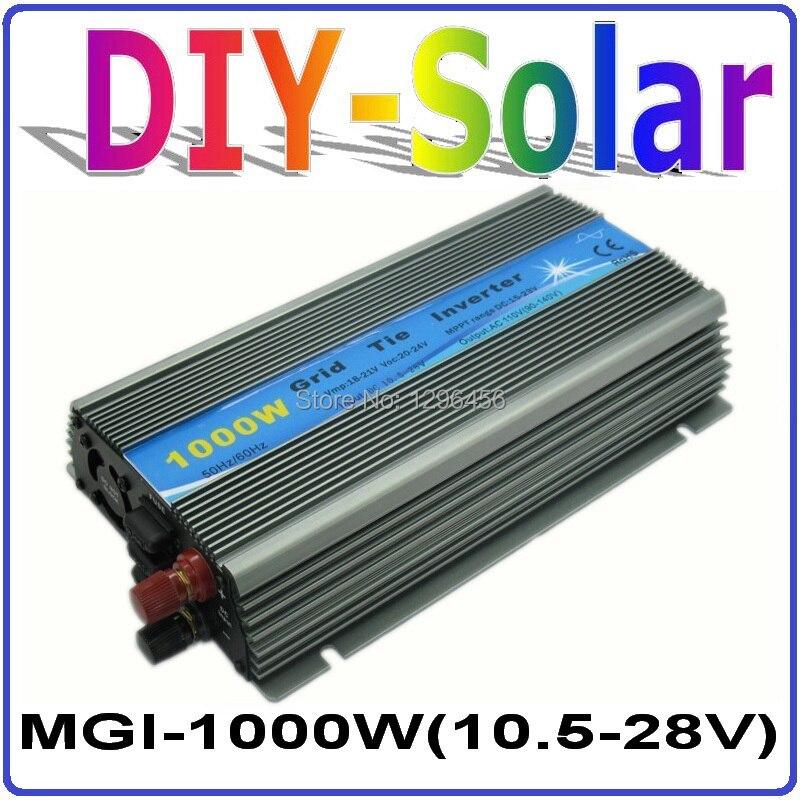 1000 w 18 v no inversor micro do laço da grade, 10.5-28vdc a AC90-140V ou a AC190-260V output energia eólica solar uso doméstico inversor 1000 w