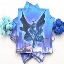 20pcs/lot Disposable Napkins Superhero Batman Kids Birthday Party Supplies Event Decoration Set
