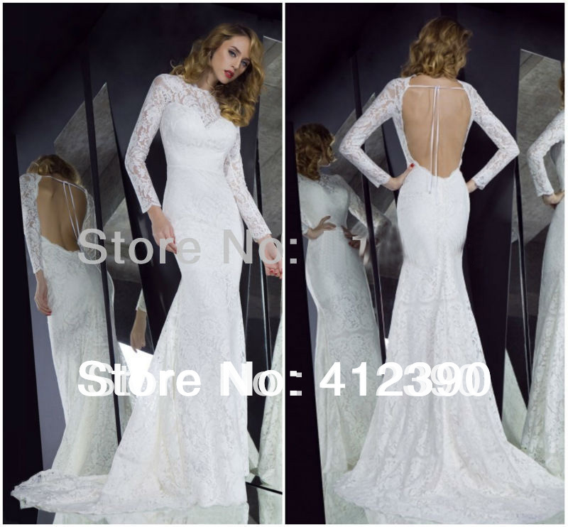 Compare Prices on Long Sleeved Mermaid Wedding Dresses- Online ...