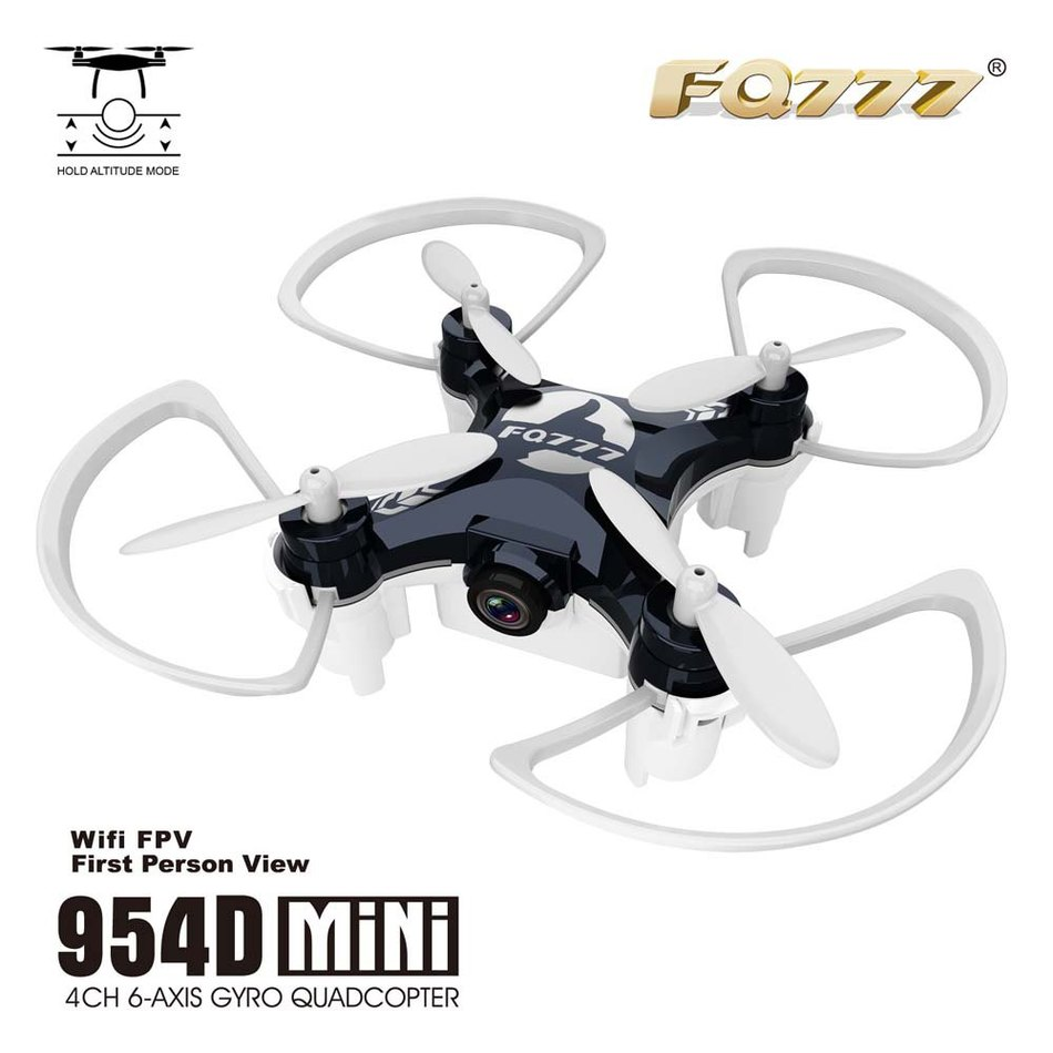 ФОТО Newest FQ777 954D WIFI FPV Drone Camera Altitude Hold Mode 6-AXIS Gyro Control System 3D Unlimited Eversion RC Nano Quadcopter