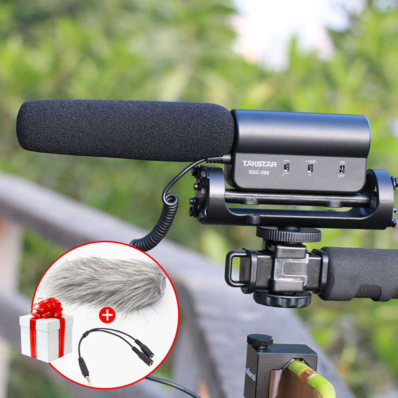 Takstar SGC-598 Photography Interview Shotgun MIC Microphone for Nikon Canon DSLR Camera DV Camcorder for Vloggers/Videomaker aputure professional camera camcorder shotgun microphone studio microphoneinterview condenser mic for camera dslr