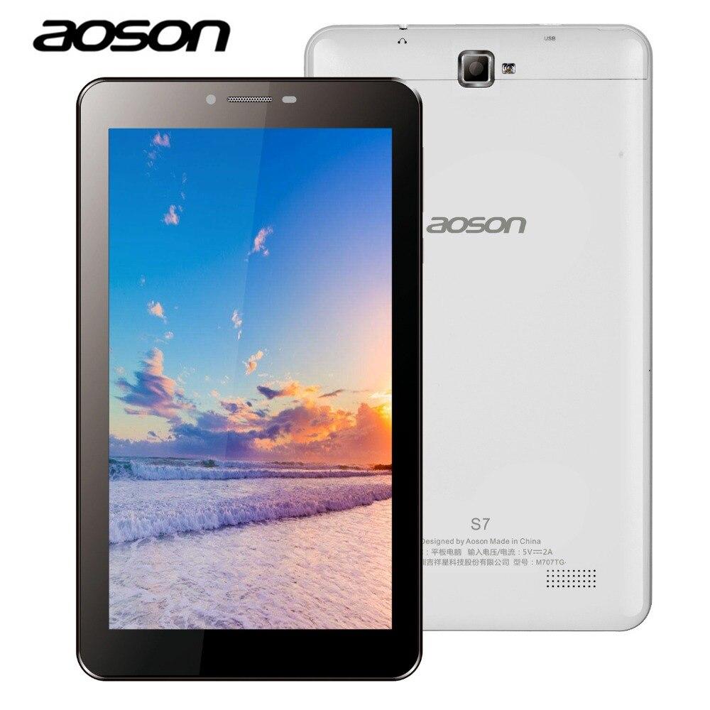 Aoson S7 7 inch 3G WCDMA phone call tablet PC 1GB/8GB Android IPS Dual SIM Dual Cam GPS WIFI Bluetooth 3G Phablet Kids Tablets new aoson m751 7 inch android 5 1 tablet pcs 1024 600 ips screen tablets 8gb rom 1gb ram quad core dual camera wifi bluetooth fm