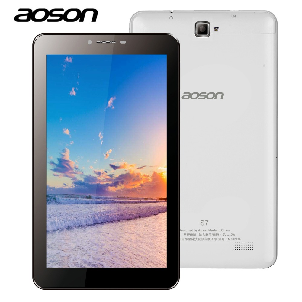 Aoson S7 7 inch 3G phone call tablet PC 1GB/8GB Android IPS Dual SIM Dual Cam GPS WIFI Bluetooth 3G Phablet Clearance tablet bdf a708 3g phablet