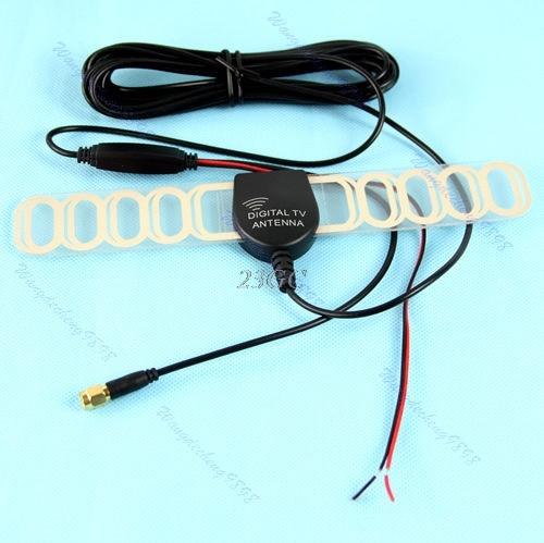 Car TV Digital DVB-T Antenna Lightweight 12V Amplified Booster 36DBi A22_17