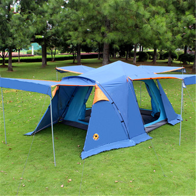 Samcamel 3-4 Person Large Family Tent Large Camping Tent Sun Shelter Gazebo Beach Tent Awning For Advertising/exhibition outdoor double layer 10 14 persons camping holiday arbor tent sun canopy canopy tent