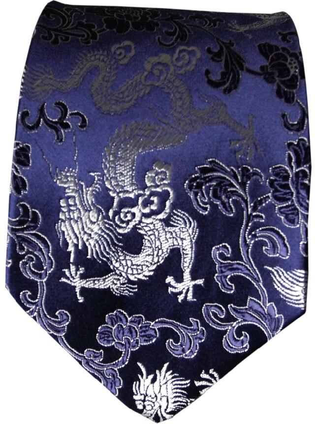 Unique Jacquard Dragon cravate chinois style naturel réel soie haut de gamme hommes standard lie cadeaux
