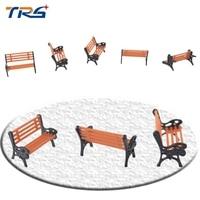 1/50 skala architektoniczne modelarstwo Model Pociągu HO OO N skala ławka krzesło dla parku krzesło ogrodowe