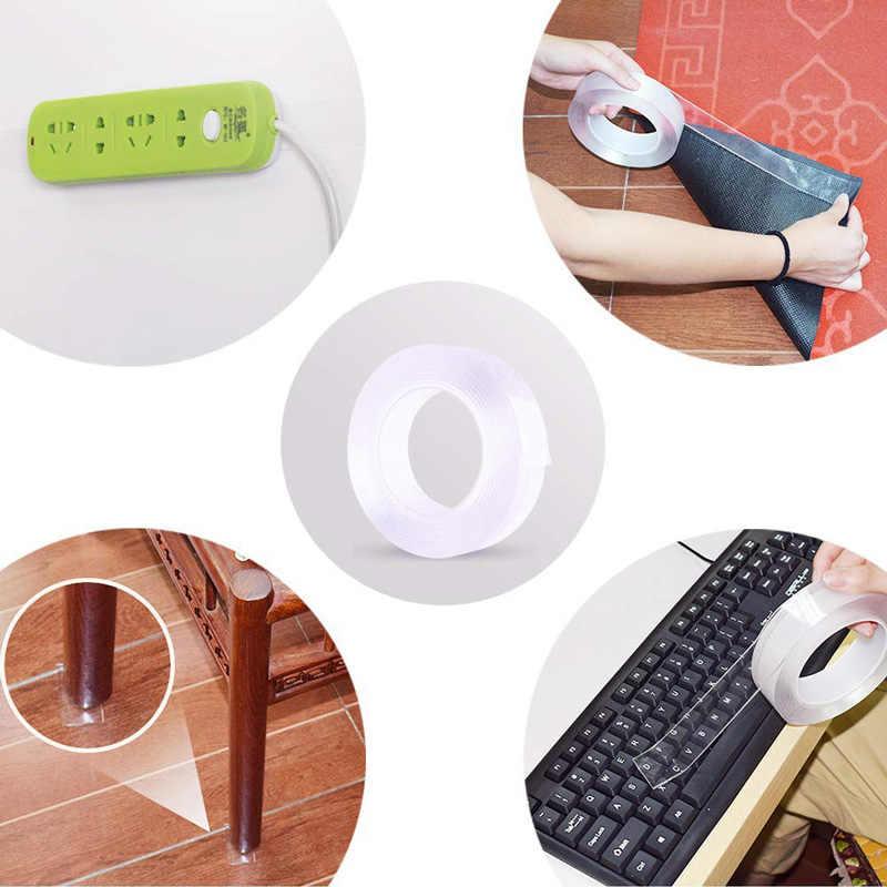 1M, cinta adhesiva transparente Nano sin rastro de doble cara, cinta adhesiva sin rastro, cinta adhesiva fija antideslizante para el hogar