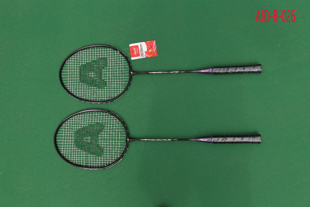 High Quality A Pair of Badminton Racket With Bag Men Women Sports Training Rackets For Outdoor Activities