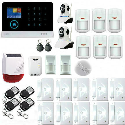 Yobang Security- 2.4G Wireless Wifi GSM Alarm Systems With Security Camera Pet Immune Detector Flash Waterproof Solar Siren yobang security rfid gsm gprs alarm systems outdoor solar siren wifi sms wireless alarme kits metal remote control motion alarm