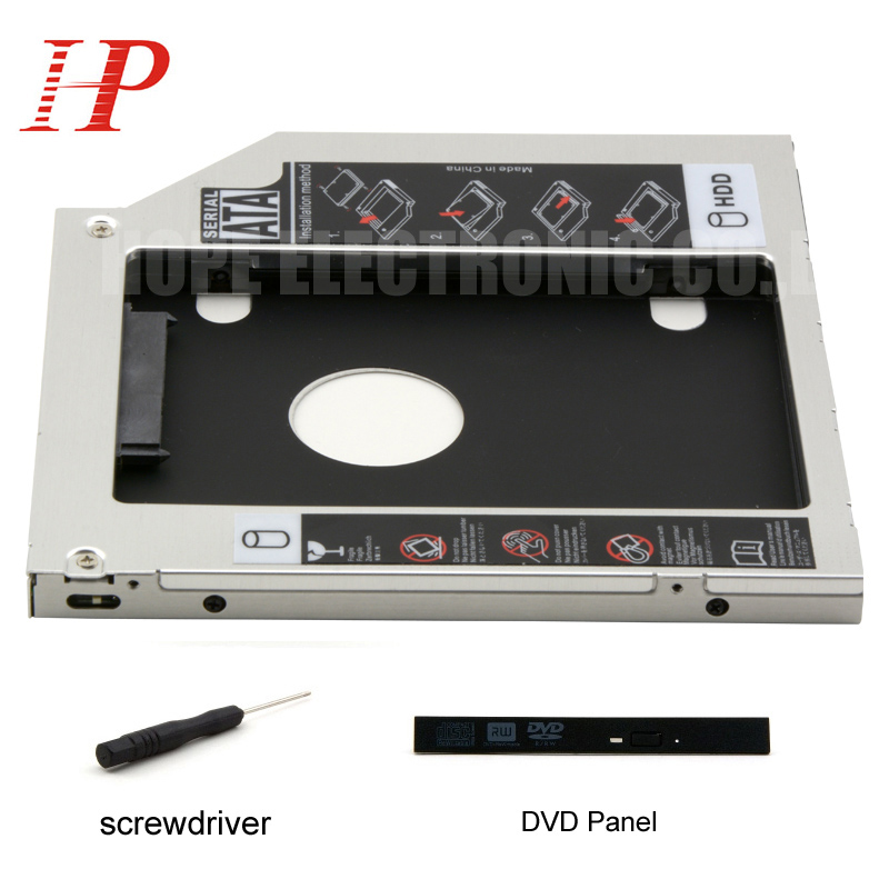 For ASUS FX50JK FX50JX FX50J FX50V FX50 SATA 3.0 2nd HDD SSD Adapter Caddy DVD-ROM Optibay 9.5mm Thickness