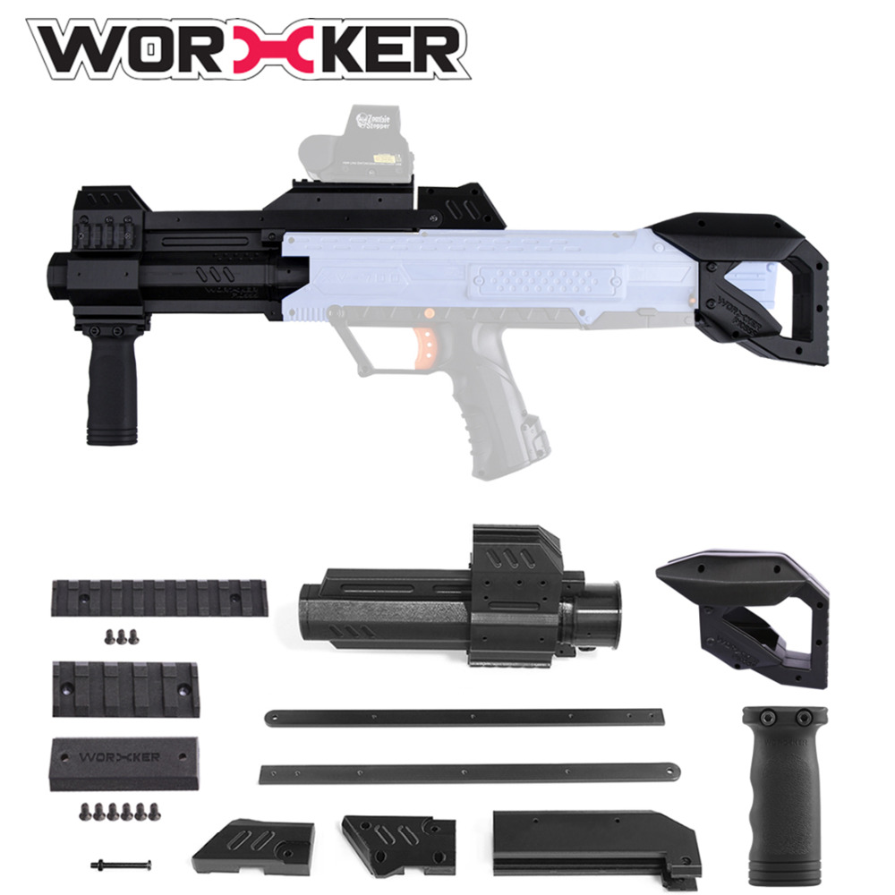 Worker F10555 3D Printing Upgraded Pull-down Grip  Shoulder Stock for Nerf Rival Apollo XV-700 - Black садовая детская тяпка truper atj kid 10555