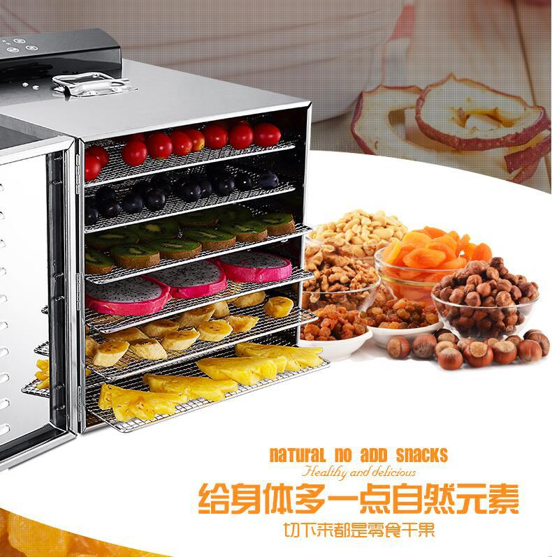 6 Layer Professional Electric Dehydrator Fruit Food Dryer Stainless Steel Food Fruit Vegetable Pet Meat Air Dryer Machine