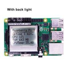 Raspberry Pi 3 информация о процессоре 1,6 дюйма 84x48, модуль дисплея памяти с подсветкой для Raspberry Pi Zero / 1/2 / 3 /3B +