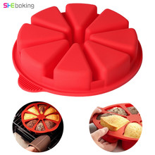 Shebaking 8 Holes Baking Mold 3D Round Silicone Cake Mould DIY Fondant Muffin Bread Pan Bakeware Molds Kitchen Pastry Tool