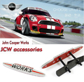 metal mini john cooper works r56 jcw emblem grill badges emblem mini cooper one clubman etc.