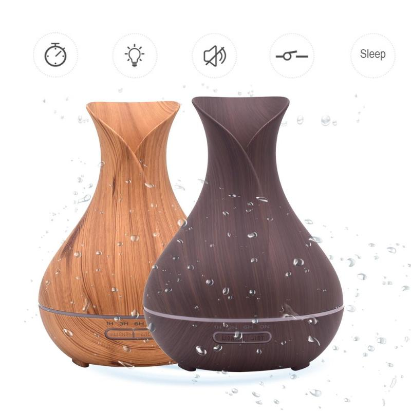400ml Ultrasonic Air Humidifier Aromatherapy Essential Oil Mist Maker Aroma Colorful Lamp Diffuser for Home Office face humidifier 25ml 5v aromatherapy essential oil diffuse fragrance mist fog maker at home office