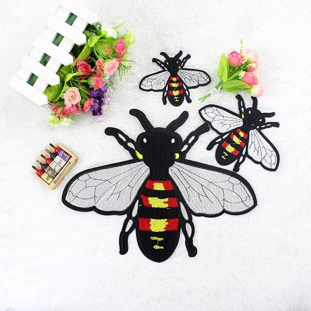Moda grandes y pequeñas abejas parche de alta calidad bordado de ...