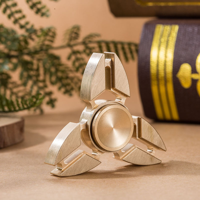 In stock Tri-Spinner Fidget Toy Metal EDC Hand Spinner For Autism and ADHD Rotation Time Long Anti Stress Toys creative ceramic tri spinner fidget toy edc hand spinner for autism and adhd stress relieve toy rotation time beyond 6 minutes