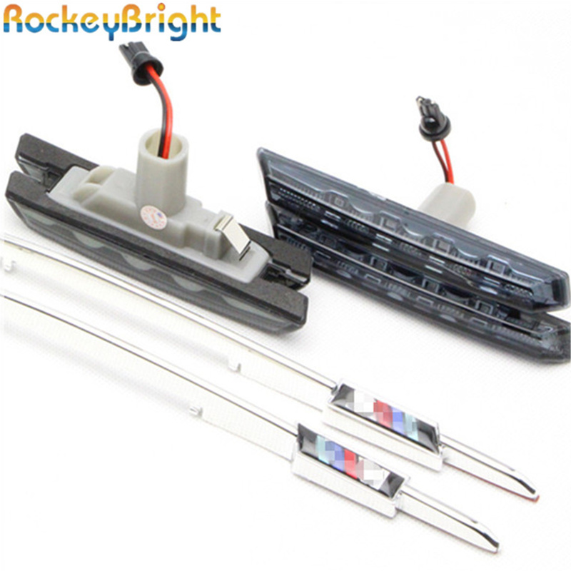 Rockeybright factory price led side marker for BMW E46 led side font b lamp b font