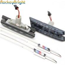 Rockeybright fabrika fiyat led yan marker için E46 led yan lamba M Logosu turn sinyal fender yan işaretleyici dönüş lambası