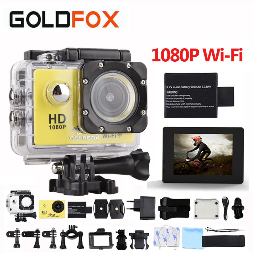GOLDFOX SJ 4000 Action Camera 30m waterproof 2.0' Screen 12MP wifi Sport DV 1080p Sport Camera go extreme pro cam Mini Camera цена