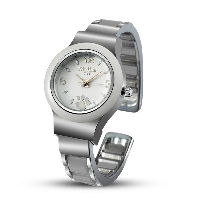 Women's Stainless Steel Puppy Paws Printed Watches