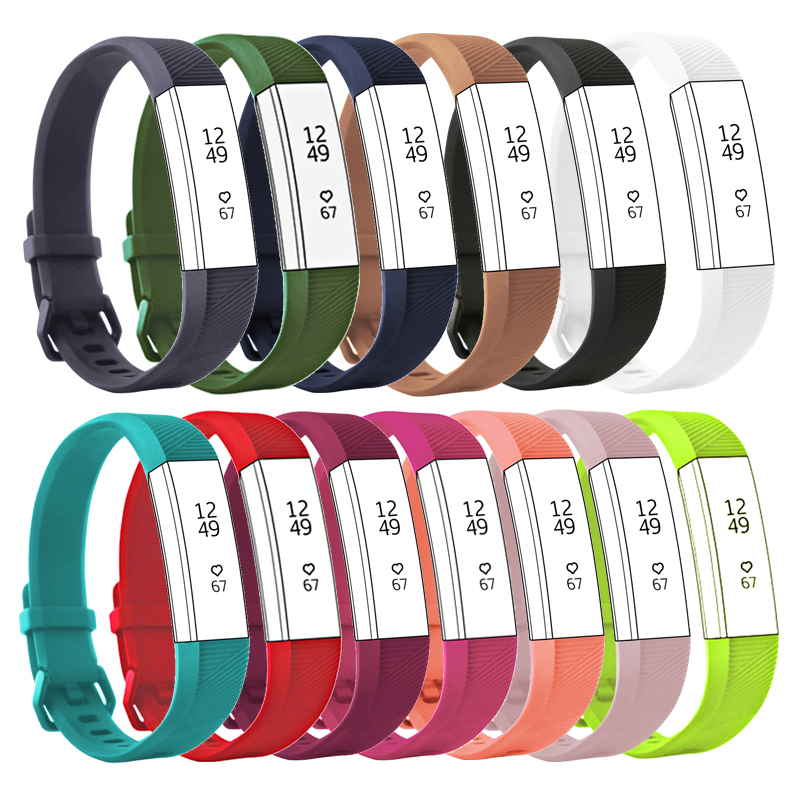 Silicone Correa Wrist for Fitbit Alta HR Fitness Bracelet Strap for Fit bit Alta Sports Watch Band Smart Replacement Accessories image