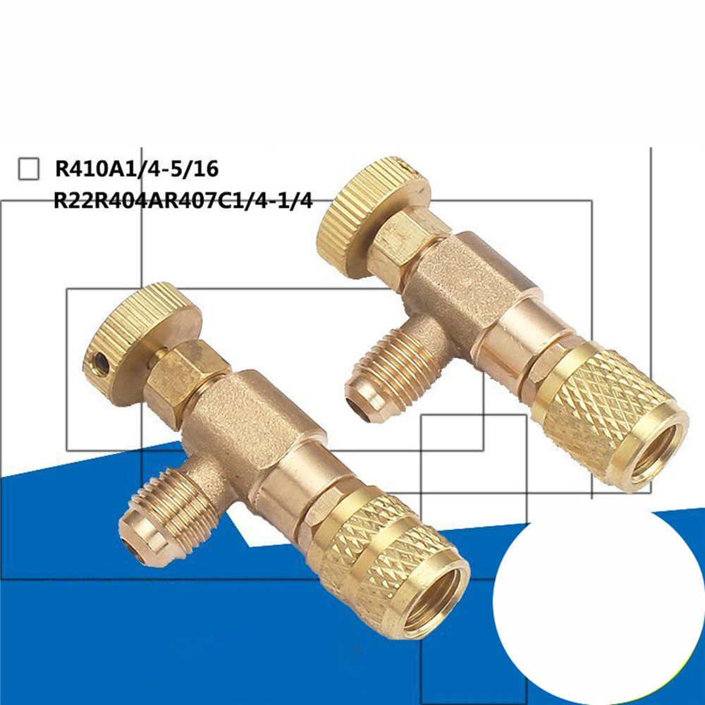 R22/R410 Refrigeration Charging Adapter Liquid Addition Accessory Control Valve Home Refrigeration Tool For Safety Valve Service