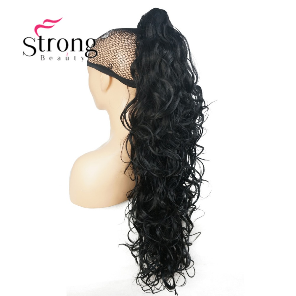 Image 3 - StrongBeauty Womens Ladies Girls Synthetic X Long W  Amazing shape Claw Clip Ponytail Pony Tail Hair Extensio COLOUR CHOICESSynthetic Ponytails   -