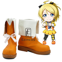 Anime LoveLive School Idol Project Sunny Day Song Ayase Eli Shoes Cosplay Christmas Party Boots Custom
