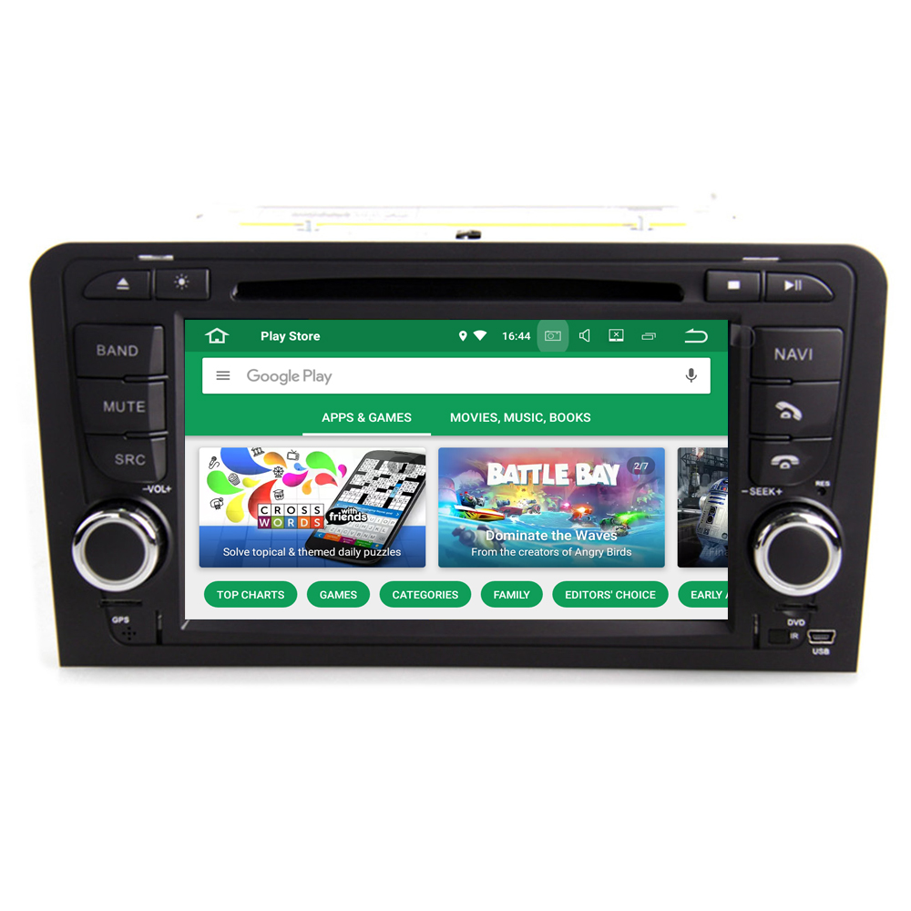 RoverOne Android 8.0 Octa Core Car Radio DVD GPS For Audi A3 S3 RS3 Touchscreen Multimedia Player Head Unit Bluetooth PhoneLink