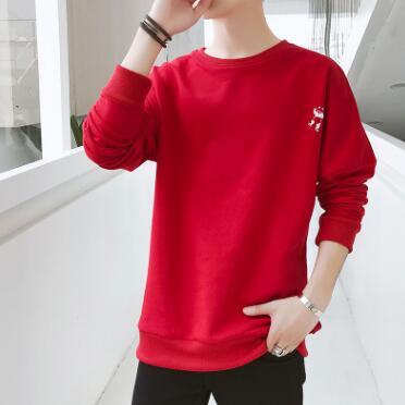 Для мужчин свитер 2018 новые свободные круглый вырез горловины Южнокорейская версия тенденция Для мужчин стиль идти go Топы молодежи популярн...