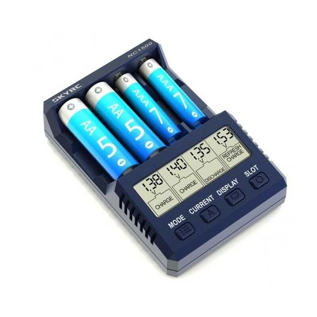 New SKYRC NC1500 5V 2.1A 4 Slots LCD AA/AAA Battery Charger & Analyzer NiMH Batteries Charger Discharge & Refresh