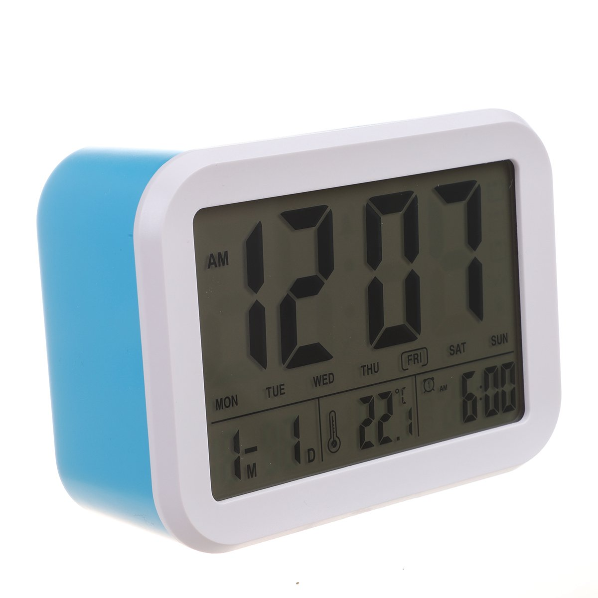 HOT-Digital Alarm Clock,Talking Clock with 3 Alarms 7 Sounds Optional Weekday Alarm, Intelligent Noctilucent & Snooze Function