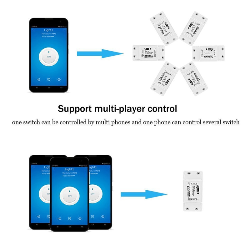 12pcs sonoff basic Wifi Switch Universal for Smart Home Wifi Switch  Automation Module Timer Diy Remote Controller for iphone ios
