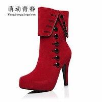 New Fashion Women Boots Sexy 12CM High Heels Women S Autumn And Winter Platform Boots 2014