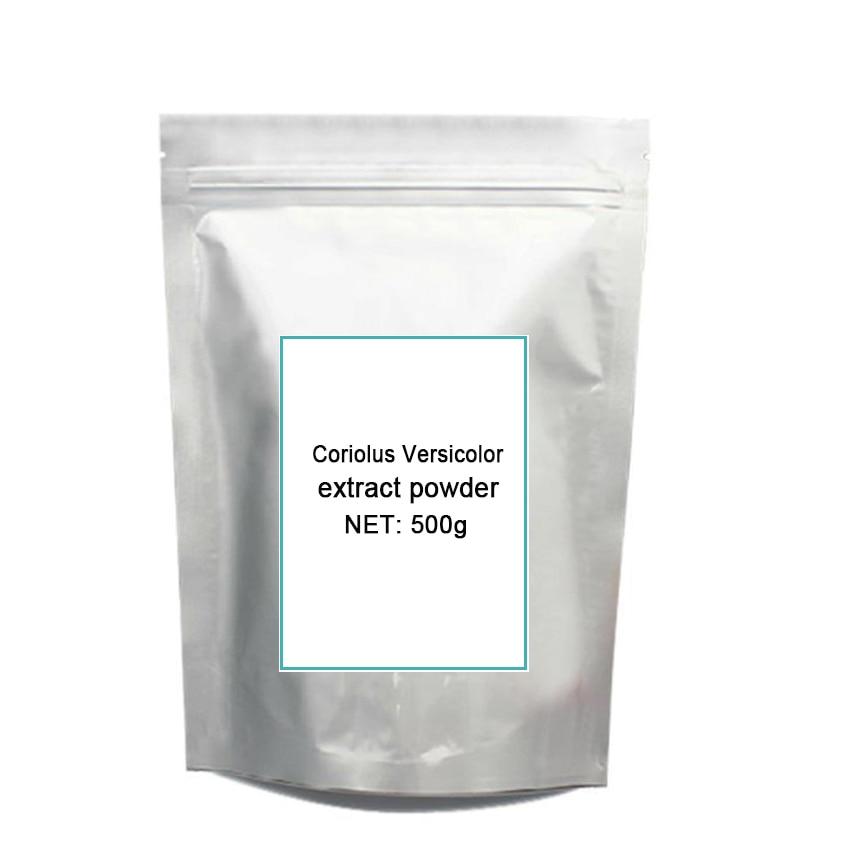 цена на 500g Coriolus Versicolor (Yun Zhi )Extract 50% Polysaccharide Pow-der free shipping