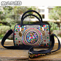 Spain New Fashion Bolsos Desigues Embroidery Women Messenger Bags Vintage Shoulder Crossbody Bags Sac a Main Travel Bag