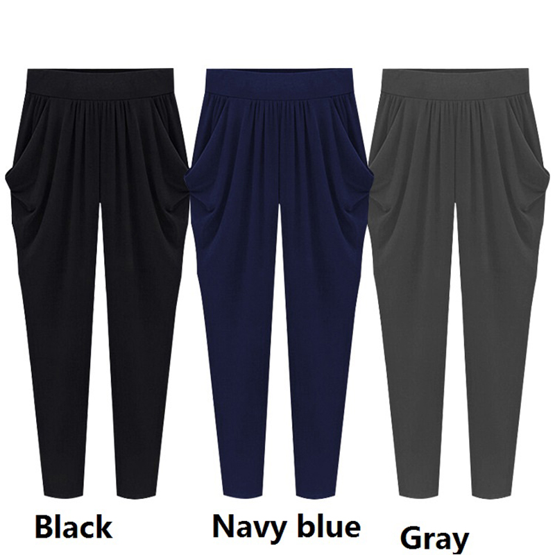 5XL-6XL-7XL-8XL-Plus-Size-2018-Summer-Autumn-Woman-Trousers-Pleated-Strechy-Elastic-Harem-Womens (3)