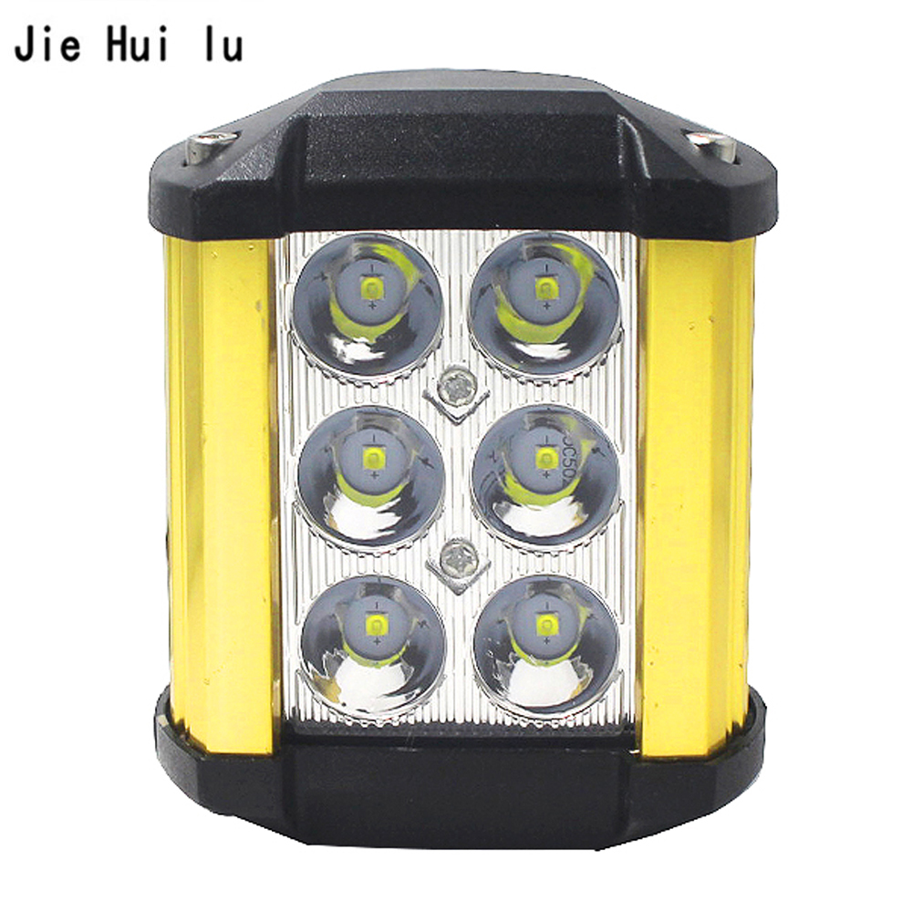 Car Motorcycle LED Work Light Spotlight for 4WD ATV Off-road Spot Flood SUV Driving Bar Lamp Headlight Foglight Waterproof