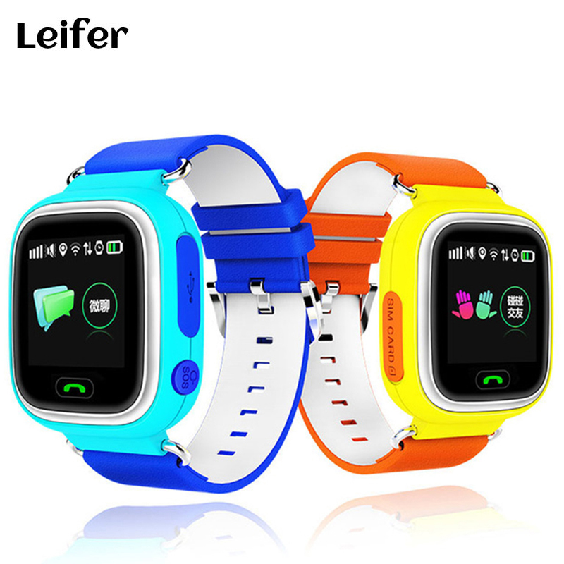 Leifer GPS Q90 Smart baby Watch with Touch Location SOS Call pedometer Tracker for Kid Safe Anti-Lost Monitor Device PK Q100 Q80 smartch gps smart watch v7k kid waterproof smart baby watch with camera sos call location device tracker anti lost monitor