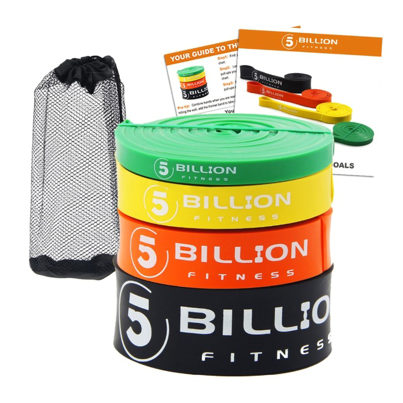 5BILLION Heavy Duty Latex Fitness Resistance Bands Set Pull Up Loop Band for Strength Weight Training