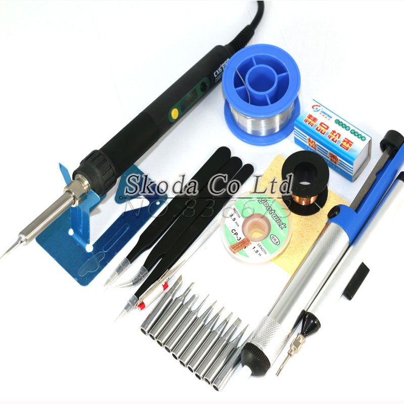 Free shipping Newest EU plug DS60T Precision soldering iron Soldering Tool Kit 11 kinds of accessories karcher бытовой sc 4 iron kit eu