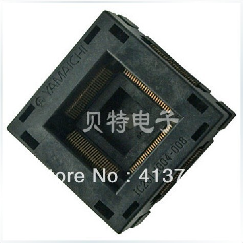 Block burning imported IC test block, TQFP100 adapter programming, IC201-1004-008