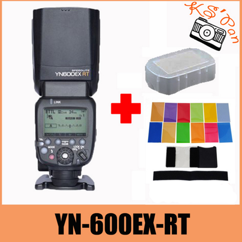 <font><b>Yongnuo</b></font> YN600EX-<font><b>RT</b></font> YN600EX <font><b>RT</b></font> Wireless Flash <font><b>Speedlite</b></font> Radio TTL HSS 1/8000 For Canon Camera + 12 pcs color cards image