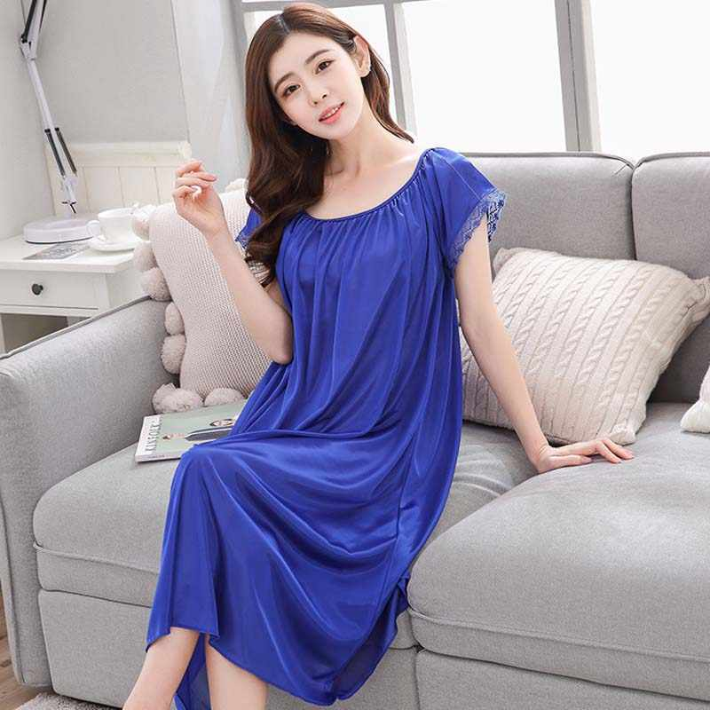 ... clothes sleepwear nightdress long silk nightgowns pajamas for pregnant  women nightclothes maternal pajama plus size. RELATED PRODUCTS. Pregnancy  ... 092f76135c97