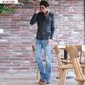 2016 Nueva Llegada de La Manera Mens Jeans Acampanados Pantalones Azul de Campana Inferior Jeans Para Hombres Casual Boot Cut Denim Corredores Más del Tamaño 28-38